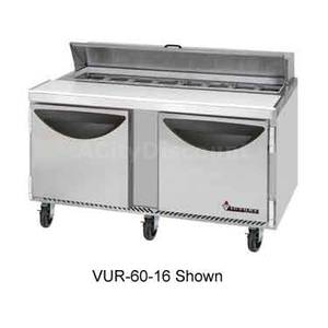 Victory VUR-60-16 60 Value Line Refrigerated Sandwich Prep Table w/ 16 Pans