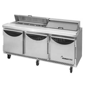 Victory 72 Value Line Refrigerated Sandwich Prep Table w/ 18 Pans - VUR-72-18