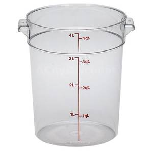 Cambro RFSCW4 12 ea - CamWear Round 4 Qt Clear Food Container w/ Handles