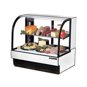True TCGR-50-CD 51 Wide Curved Glass Refrigerated Deli Case