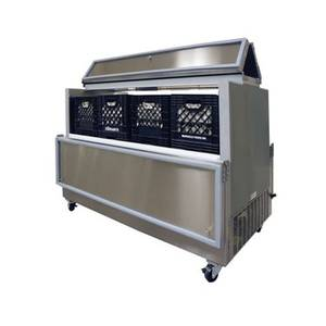 Master-Bilt DOMC-164 Cold Wall Evap. Dual Access Milk Cooler, 16 cases