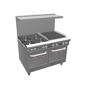 Southbend 4481EE-2C Ultimate Series Range w/ 4 Burners 24 Charbroiler & 2 Ovens
