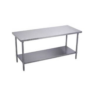 Elkay Foodservice BWT30S48-STSX 48 x 30 All Stainless Work Table 16/400 with Undershelf