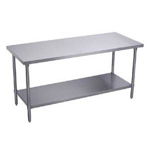 Elkay Foodservice BWT24S30-STGX 30x24 Work Table 16/400 Stainless w/ Galvanized Undershelf