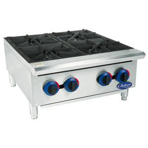 Globe C24HT Chefmate 24 Gas Hot Plate 4 Burners w/ Manual Controls