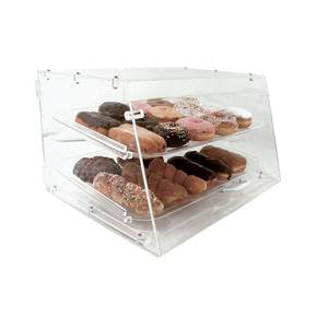 Update Pastry Display Case w/ 2 Trays 6mm Clear Acrylic - APB-2112FD