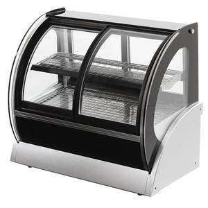 Vollrath 40885 60 Curved Glass Heated Display Case w/ Front & Rear Access