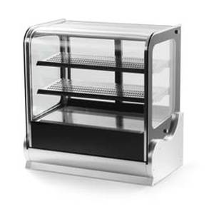 Vollrath 40891 48 Cubed Glass Heated Display Case w/ Front & Rear Access
