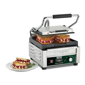 Waring 9.75in x 9.25in Flat Sandwich Panini Grill w/ Timer 120v - WFG150T