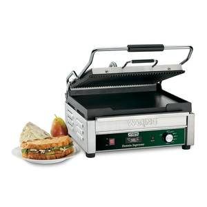 Waring WDG250T 14.5x11 Panini Grill Ribbed Top & Flat Bottom w/ Timer