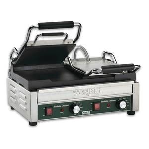 Waring Dual Sandwich Flat Toasting Grill 17 x 9.25 w/ Timer 240v - WFG300T