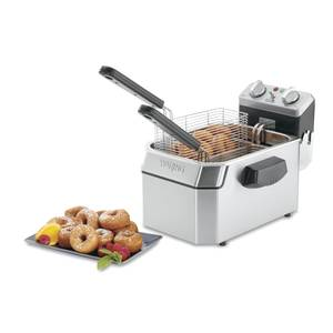 Waring WDF1000BD Double (2) 10lb Electric Countertop Deep Fryer w/ Timer 208v