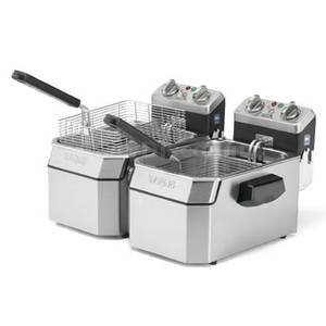 Waring WDF1550D Dual 15lb Counter Top Deep Fryer Electric - 240V