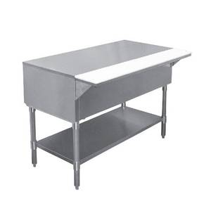 APW Wyott 63.5 Portable Hot Well Solid Top Table w/ Stainless Legs - PWT-4S