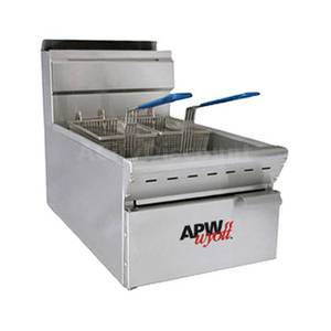APW Wyott Countertop 15lb 40 kBTU Twin Basket Gas Fryer - APW-F15C