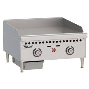 Vulcan Medium Duty 24 Snap Action Thermostatic Gas Griddle - VCRG24-T