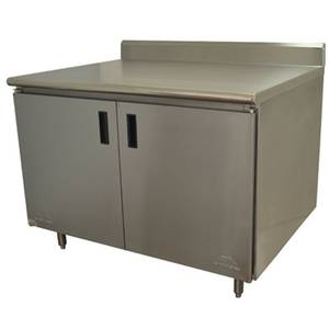 HB-SS-304 Advance Tabco 48in X 30in Work Table w/ Cabinet Base
