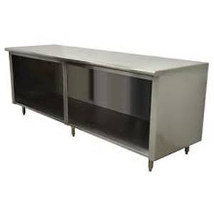 EF-SS-304 Advance Tabco 48 in Open Front Storage Cabinet 1.5 Splash