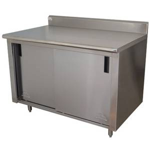 Advance Tabco 60in X 30in Cabinet Base w/ Sliding Doors - CB-SS-305