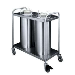 APW Wyott Mobile 8 1/4 - 9 1/8 Plate Dispensers 2 Tubes Unheated - TL2-9