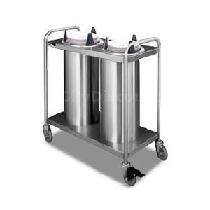 APW Wyott Mobile 9 1/4 - 10 1/8 Plate Dispensers 3 Tubes Heated - HTL3-10