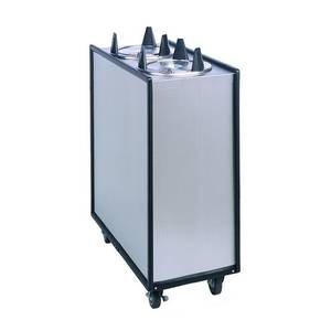 APW Wyott HML3-10 Mobile Enclosed 9 1/4 - 10 1/8 Dispensers 3 Tubes Heated