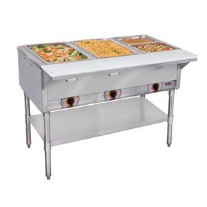 APW Wyott ST-3-120 3 Well Electric Hot Food Steam Table Coated Legs 120v