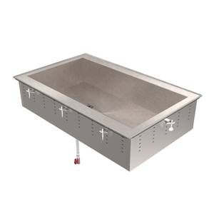 Vollrath 4 Pan Non-Refrigerated Short Side Ice Down Cold Pan Drop-In - 36660