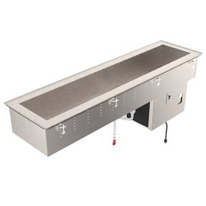 Vollrath 4 Pan Refrigerated Short Side Cold Pan Drop-In - 36658
