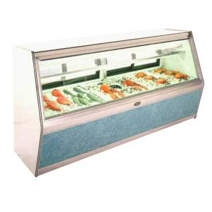 Marc Refrigeration 120 Dble Duty Self-Contained Fish/Chicken Deli Display Case - MFC-10 S/C