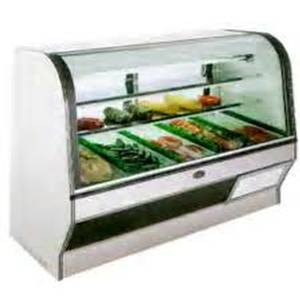 Marc Refrigeration HS-6 S/C 72 Self-Contained Curved Glass Red Meat Deli Display Case