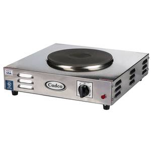 Cadco LKR-220 Single Cast Iron Burner 220V Electric Hotplate - 2000W