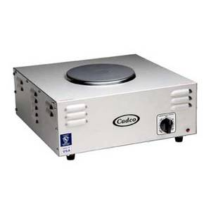 Cadco CSR-1CH Single Cast Iron Burner 120V Electric Hotplate - 1500W