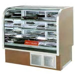 Marc Refrigeration DCR-77 78 High Volume Curved Glass Refrigerated Deli Case