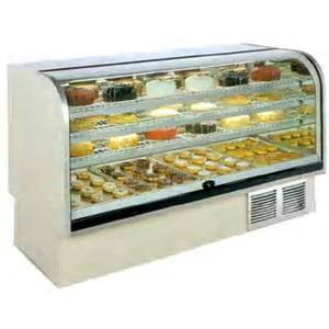 Marc Refrigeration BCR-59 60 High Volume Curved Glass Refer Bakery Display Case
