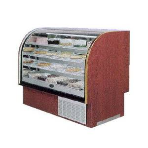 Marc Refrigeration LUBCR-77 S/C 78-1/2 Lift Up Hi Vol Curved Glass Refer Bakery Disp Case