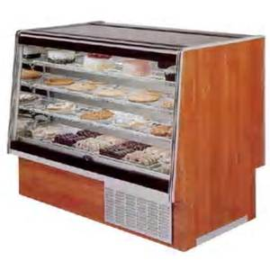 Marc Refrigeration SQBCR-59 S/C 59.75 Slant Glass Wood Refrigerated Bakery Display Case