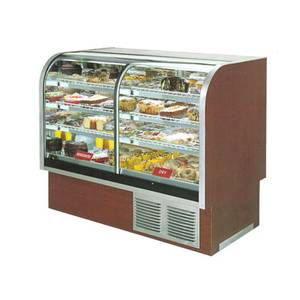 Marc Refrigeration 49 Curved Glass 1/2 Refrigerated 1/2 Dry Split Bakery Case - SPL-48