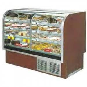 Marc Refrigeration SPL-77 78 Curved Glass 1/2 Refrigerated 1/2 Dry Split Bakery Case