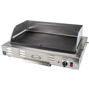 Cadco CG-10 21 Countertop Stainless Steel Electric Griddle - 120V