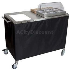 Cadco Mobile Saute Station Cart / Serving Station w/ Burner - CBC-PHR-*