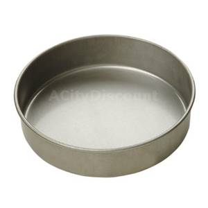 Focus Foodservice Case of 12 8x2 Round Aluminized Steel Cake Pans - 900825