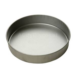 Focus Foodservice Case of (12) 10x2 Round Aluminized Steel Cake Pans - 901025