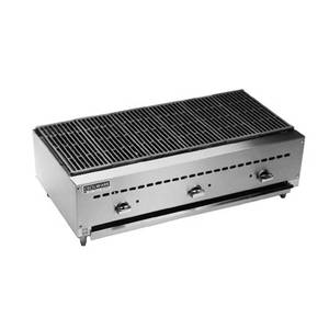 GMCW BC1836 36 W Counterop Three Burner Gas Charbroiler - 51 kBTU