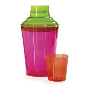 G.E.T. SH-175-NEON 2 Dozen - 17.5 oz SAN 3pc Cocktail Shaker Set - Neon