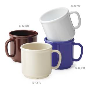 G.E.T. 2 Dozen - Bake And Brew™ 12 oz SAN Mugs - 4 Color Choices - S-12-*