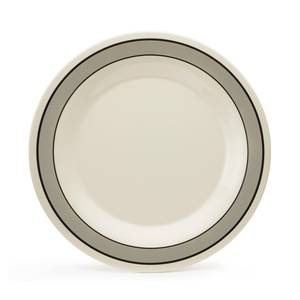 G.E.T. WP-7-CA 4 Dz - 7-1/2 Diamond Cambridge™ Wide Rim Melamine Plate