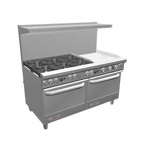 Southbend S-Series 60 Range w/ 24 Therm. Griddle & 2 Conv. Ovens - S60AA-2T*