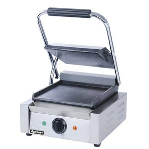 Adcraft Smooth Panini Grill Single 8 1/2 x 9 1/2 Electric 120v - SG-811/F
