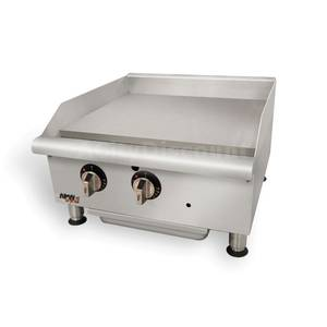 APW Wyott GGT-24I Champion 24 Countertop Thermostatic Griddle Natural Gas